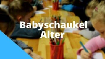 Babyschaukel Alter